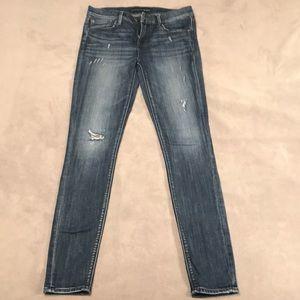 EXPRESS size 6 LONG Mid-Rise Legging Jean
